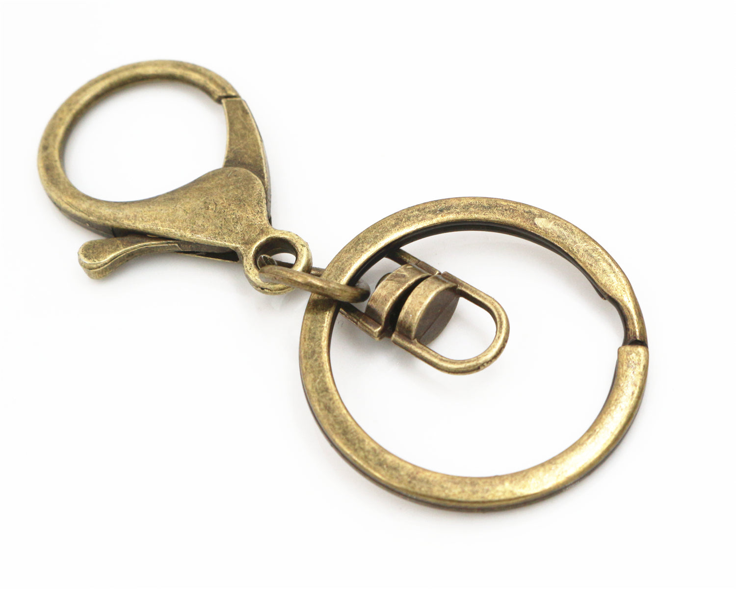 30mm 70mm Key Ring Long Popular Classic 6 Colors Plated Lobster Clasp Key Hook Chain Jewelry Making For Key-chain