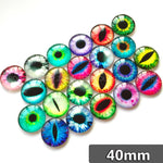 40mm Eyes Mixed Pattern Round Glass Dome Cabochon Fit Cameo Base Setting