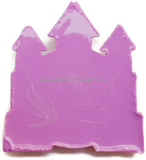 12 Resin Frame Setting Bezel Princess Castle fit 1in or 25mm cameo PURPLE 68.5