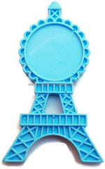 12 Resin Frame Setting Bezel Eiffel Tower Paris fit 1in or 25mm cameo BLUE 69.1