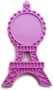 12 Resin Frame Setting Bezel Eiffel Tower Paris fit 1in or 25mm cameo PURPLE 69.5