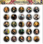 Buttons Badge Round, Pin Backs, Magnets, Flat Backs Cameo. Abraham Lincoln 1