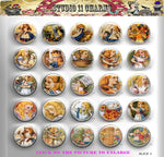 Buttons Badge Round, Pin Backs, Magnets, Flat Backs Cameo. Alice in wonderland 1 classic