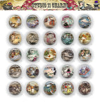 Buttons Badge Round, Pin Backs, Magnets, Flat Backs Cameo. Alice in Wonderland 27