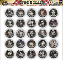 Buttons Badge Round, Pin Backs, Magnets, Flat Backs Cameo. Alice in Wonderland 33B