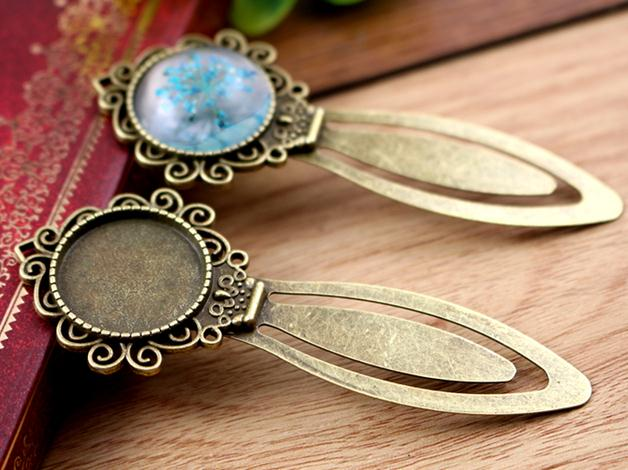 20mm Inner Size Antique Bronze Vintage Style Handmade Bookmark Fit Base Setting