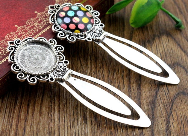 20mm Inner Size Antique Silver Simple Style Handmade Bookmark Fit Base Setting