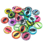 20mm 25mm One Eye Round Pattern Glass Cabochon Mixed Patterns Flat Back Handmade Supplies for Jewelry Accessories