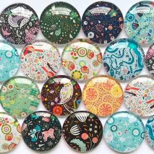10mm 12mm 18mm 20mm 25mm 30mm 35mm 40mm Handmade Mixed Dogs Pattern Domed Glass Cabochons Round Jewelry Accessories Supplies