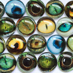 10mm 12mm 18mm 20mm 25mm 30mm 40mm Mixed Pattern Domed Round Handmade Glass Cabochons Jewelry Accessories Supplies