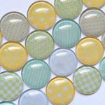10mm 12mm 18mm 20mm 25mm 30mm 35mm 40mm Handmade Shape Iconn Glass Cabochons Mixed Pattern Domed Round Jewelry Accessories Supplies