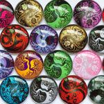 10mm 12mm 18mm 20mm 30mm 40mm Trees Root Butterfly Handmade Glass Cabochons Mixed Pattern Domed Round Jewelry Accessories