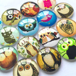 10mm 12mm 14mm 16mm 18mm 20mm 25mm Round Glass Cabochon Mixed Pattern Pictures Fit Cameo Base Setting