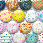10mm 12mm 14mm 16mm 18mm 20mm 25mm 30mm New Floral Round Glass Cabochon Mixed Pattern Fit Cameo Base Setting