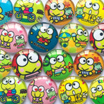 10mm 12mm 18mm 20mm Keroppi Round Glass Cabochon Mixed Pattern Fit Cameo Base Setting