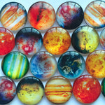 10mm 12mm 18mm 20mm 25mm 30mm 35mm 40mm Abstract Painting Round Glass Cabochon Mixed Pattern Fit Cameo Base Setting