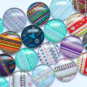 10mm 12mm 18mm 20mm 25mm 30mm 40mm Round Glass Cabochon Mixed Knitted Pattern Design Fit Cameo Base Setting