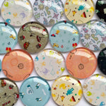 10mm 12mm 18mm 20mm 25mm 30mm 40mm Round Photo Glass Cabochon Mixed Pattern Fit Cameo Base Setting for Jewelry Flatback BCH247