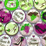 10mm 12mm 18mm 20mm 25mm 30mm 35mm 40mm Love Shoes Wine Round Photo Glass Cabochon Mixed Pattern Fit Cameo Base Setting