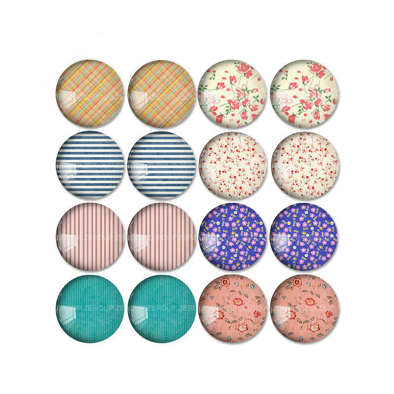10mm 12mm 14mm 16mm 18mm 20mm 25mm Brief Branch Mixed Pattern Round Glass Cabochon Fit Base Earring Setting