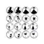 10mm 12mm 14mm 16mm 18mm 20mm 25mm Cat and Bird Round Glass Cabochon Mixed Pattern Fit Base Earring Setting for Jewelry