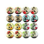 10mm 12mm 14mm 16mm 18mm 20mm 25mm Cat and Bird Round Glass Cabochon Mixed Pattern Fit Base Earring Setting