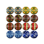 10mm 12mm 14mm 16mm 18mm 20mm 25mm Decorative Mixed Pattern Round Cabochon Fit Base Earring Setting