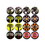 10mm 12mm 14mm 16mm 18mm 20mm 25mm Round Glass Cabochon Flowers And Trees Pictures Mixed Pattern Fit Base Earring Setting