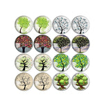 10mm 12mm 14mm 16mm 18mm 20mm 25mm New Tree Branch Round Glass Cabochon Mixed Pattern Fit Base Earring Setting