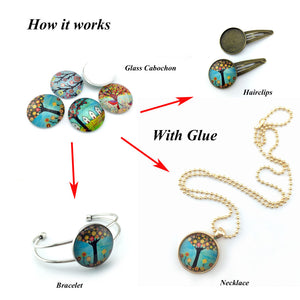 10mm 12mm 14mm 16mm 18mm 20mm 25mm Round Glass Cabochon Peacock Feathers Pictures Mixed Pattern Fit Base Earring Setting