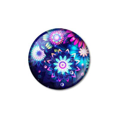 12mm 20mm 25mm 30mm Colorful Flower DIY Handmade Round Glass Cabochon Dome Jewelry Finding Settings Pattern Flat Back