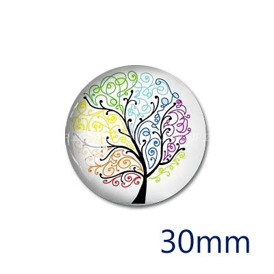 12mm 20mm 25mm 30mm DIY Handmade Round Glass Cabochon Dome Jewelry Finding Settings