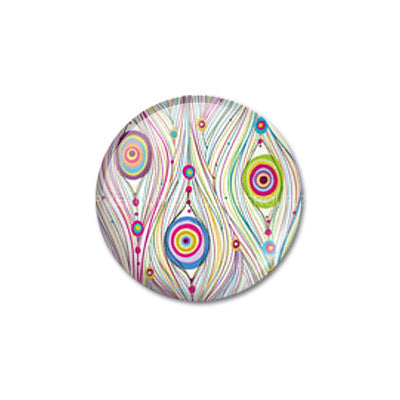 12mm 20mm 25mm 30mm Round Glass Sketch Style Peacock Design Cabochon DIY Jewelry Settings