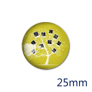 12mm 20mm 25mm 30mm DIY Tree Handmade Round Glass Cabochon Body Jewelry Finding Fit Cameo Blank Settings
