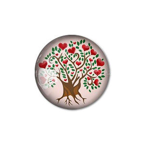 12mm 20mm 25mm 30mm Colorful Heart Tree DIY Handmade Round Glass Cabochon Body Jewelry Finding Fit Cameo Blank Settings