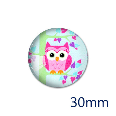 12mm 20mm 25mm 30mm DIY Bird Handmade Round Glass Cabochon Body Jewelry Finding Fit Cameo Blank Settings