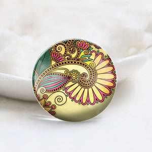 12mm 20mm 25mm 30mm DIY Round Photos Glass Cabochon Jewelry Finding Fit Cameo Blank Settings