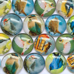30mm 35mm Round Glass Cabochons Mixed Pattern Domed Round Jewelry Accessories Supplies