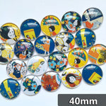 40mm Photo Glass Cabochons Mixed Pattern Domed Round Jewelry Accessories Supplies