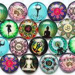 18mm 20mm 25mm Handmade Glass Cabochons Mixed Pattern Domed Round Jewelry Accessories Supplies