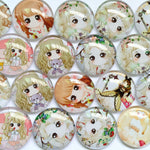 18mm 20mm 25mm Handmade Photo Glass Cabochons Mixed Pattern Domed Round Jewelry Accessories Supplies
