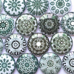 10mm 12mm 18mm 20mm 30mm 35mm 40mm Mixed Pattern Round Glass Cabochon Handmade DIY Embellishments Supplies for Jewelry Clasps Craft