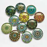 10mm 12mm 18mm 20mm 25mm 30mm 35mm 40mm Mixed Pattern Handmade DIY Round Glass Cabochon Embellishments Supplies For Jewelry