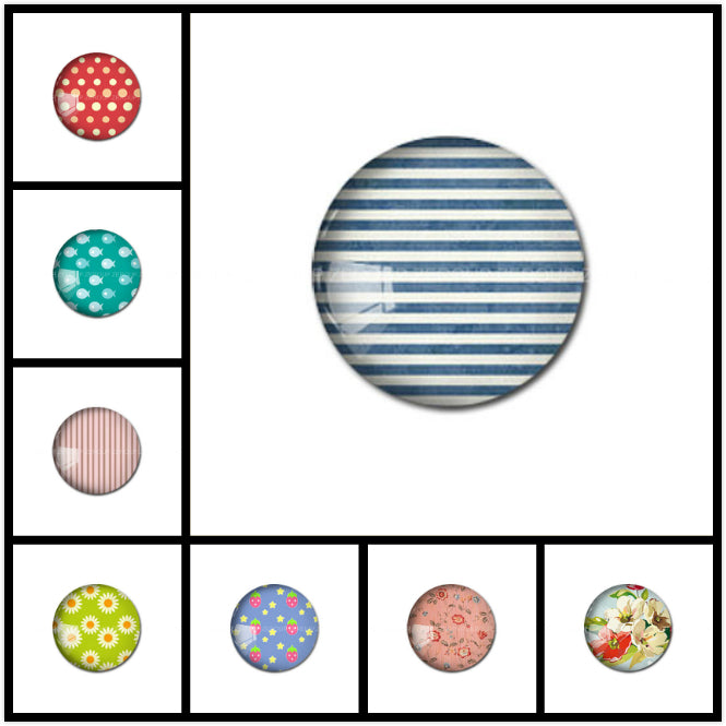 10mm 12mm 14mm 16mm 18mm 20mm 25mm 30mm Dotted Shapes Round Glass Cabochon Jewelry Finding Fit Cameo Blank Settings Supplies
