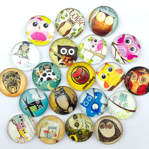 18mm 20mm 25mm Round Glass Cabochon Mixed Pattern Fit Cameo Base Setting