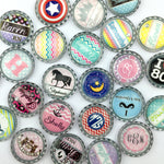 18mm 20mm 25mm Round Photo Glass Cabochon Mixed Pattern Fit Cameo Base Setting