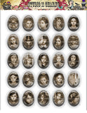 40x30, 18x25, 13X18 Resin Cameo LOW DOME Cabochon. Alice in Wonderland 33c Vintage Style