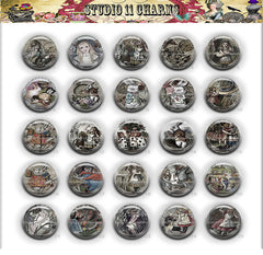 25pcs 25mm 1 inch Bottle Cap Resin Cameo Cabochon. Alice in Wonderland 15b