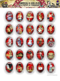 40x30, 18x25, 13X18 Resin Cameo LOW DOME Cabochon. Alice in Wonderland 42f red