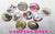 25pcs 25mm 1 inch Bottle Cap Resin Cameo Cabochon. Castles 1